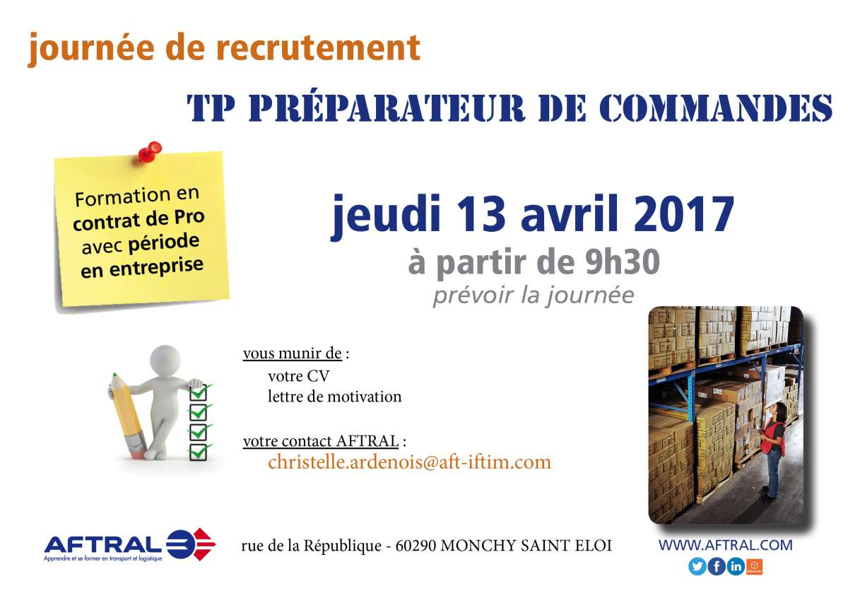 titre pro preparateur de commandes